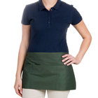 Choice 12 inch x 24 inch Hunter Green Front of the House Waist Apron