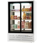 Beverage Air LV15-1-W-54-LED White Lumavue Refrigerated Sliding Glass Door Pass-Through Merchandiser - 15 Cu. Ft.