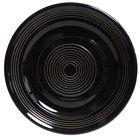 Tuxton CBA-062 Concentrix 6 1/4 inch Black China Plate - 24/Case
