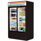 True GDM-41-LD Black Refrigerated Sliding Glass Door Merchandiser with LED Lighting - 41 Cu. Ft.