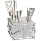 Cal-Mil 587-49 Iron Chrome Flatware Display - 6 1/2 inch x 6 1/2 inch x 4 1/2 inch