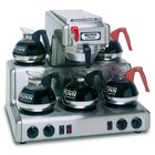 Bunn 20835.0004 RTF Automatic Stainless Steel 12 Cup Coffee Brewer with 5 Lower Warmers and Hot Water Faucet - 120/240V