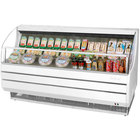 Turbo Air TOM-75S White 75 inch Slim Line Horizontal Air Curtain Display Case - 13.2 Cu. Ft.