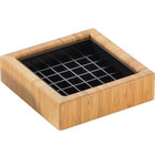Cal-Mil 330-4-60 4 inch Bamboo Square Drip Tray