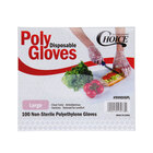 Choice Disposable Poly Gloves - Large 1000 / Box for Food Service