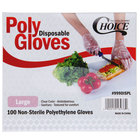 Choice Large Disposable Poly Food Service Gloves - 1000 / Box