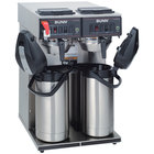 Bunn 23400.0041 CWTF Twin APS Airpot Brewer with Stainless Steel Funnel and Hot Water Faucet - 120/240V