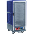 Metro C537-CFC-4-BU C5 3 Series Heated Holding and Proofing Cabinet with Clear Door - Blue