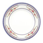 Rose 11 3/4 inch Round Melamine Plate - 12/Pack