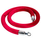 Aarco Red 6' Stanchion Rope with Chrome Ends for Rope Style Crowd Control / Guidance Stanchion