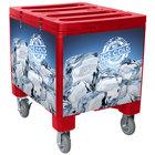 Red Ice Caddy 200 lb. Mobile Ice Bin / Beverage Merchandiser