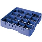 Cambro 16S800168 Camrack 8 1/2 inch High Blue 16 Compartment Glass Rack