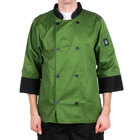 Chef Revival J134MT-L Cool Crew Fresh Size 46 (L) Mint Green Customizable Chef Jacket with 3/4 Sleeves - Poly-Cotton