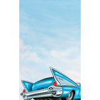 8 1/2 inch x 14 inch Menu Paper - Retro Themed Car Design Cover - 100/Pack