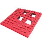 Cactus Mat 2554-RC Dri-Dek 2 inch x 2 inch Red Vinyl Interlocking Drainage Floor Tile Corner Piece - 9/16 inch Thick
