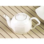 CAC SOH-TP Soho 15 oz. American White (Ivory / Eggshell) Stoneware Tea Pot with Lid - 24/Case