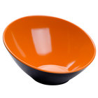 GET B-788-OR/BK Brasilia 16 oz. Orange and Black Melamine Bowl 6 / Case