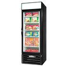 Beverage Air MMF23-1-B-LED Black Marketmax Glass Door Merchandising Freezer with LED Lighting and Swing Door - 23 Cu. Ft.