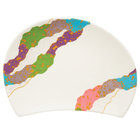 GET 137-22-CO 8 3/4 inch x 6 1/4 inch Contemporary Melamine Half Moon Plate - 12/Pack