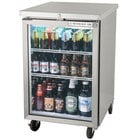 Beverage Air BB24G-1-S 24 inch Stainless Steel Back Bar Refrigerator with 1 Glass Door - 115V