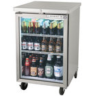 Beverage Air BB24G-1-S-LED 24 inch Stainless Steel Back Bar Refrigerator with 1 Glass Door - 115V