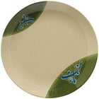 GET 207-5-TD Japanese Traditional 10 1/2 inch Plate with Wide Rim 12 / Case