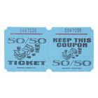 Blue 50/50 Marquee Raffle Tickets - 1000/Roll
