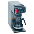 Bunn CWTF15-1 Automatic 12 Cup Coffee Brewer with 1 Lower Warmer- Black Plastic Funnel 120V (Bunn 12950.0293)
