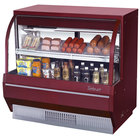 Turbo Air TCDD-48-2-L Red 48 inch Curved Glass Refrigerated Deli Case - 9.3 Cu. Ft.