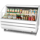 Turbo Air TOM-60S White 63 inch Slim Line Horizontal Air Curtain Display Case - 10.9 Cu. Ft.