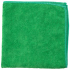 Unger MC400 SmartColor MicroWipe 16 inch x 16 inch Green Light-Duty Microfiber Cleaning Cloth