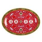 Longevity 16 inch x 11 5/8 inch Oval Melamine Platter - 12/Pack