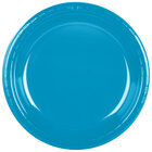 Creative Converting 28313131 10 inch Turquoise Plastic Banquet Plate - 20 / Pack