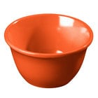 Carlisle 4305052 Durus 7 oz. Sunset Orange Melamine Bouillon Cup - 48/Case