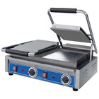Globe GSGDUE10 Bistro Series Double Sandwich Grill with Smooth Plates - 3200W