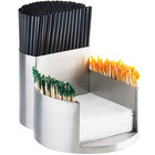Cal-Mil 1853-55 Mixology Stainless Steel Napkin, Straw, and Toothpick Organizer - 7 1/4
