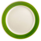 CAC R-6-G Rainbow Dinner Plate 6 1/2 inch - Green - 36 / Case