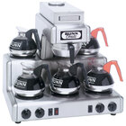 Bunn 20835.0000 RT Automatic Stainless Steel 12 Cup Coffee Brewer with 2 Upper and 3 Lower Warmers - 120/240V