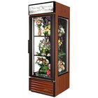 True GEM-23FC-LD Cherry Glass End Floral Case - 23 Cu. Ft.