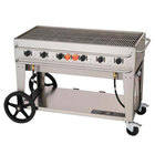 Crown Verity RCB-48-SI 48 inch Outdoor Rental Grill with Single Gas Connection