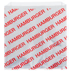 Carnival King 6 inch x 1 inch x 6 1/2 inch Large Hamburger Bag - 1000/Case