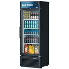 Turbo Air TGM-20SD Black 27 inch Super Deluxe Single Door Refrigerated Merchandiser - 17.5 Cu. Ft.