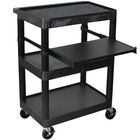 Luxor / H. Wilson LT34 Laptop Presentation Cart with 3 Shelves 34