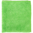 12 inch x 12 inch Green Microfiber Cleaning Cloth - 12/Pack
