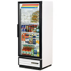 True GDM-12-LD White Glass Door Refrigerated Merchandiser with LED Lighting - 12 Cu. Ft.