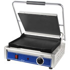 Globe GSG1410 14 inch x 10 inch Smooth Iron Top & Bottom Panini Sandwich Grill
