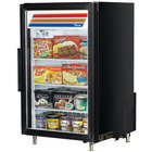 True GDM-7F-LD Black Countertop Display Freezer with Swing Door - 7 cu. ft.