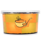 Huhtamaki Chinet 70416 16 oz. Streetside Print Double-Wall Poly Squat Paper Soup / Hot Food Cup with Plastic Lid - 250/Case