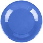 Carlisle 4301214 Durus 9 inch Ocean Blue Wide Rim Melamine Plate - 24/Case