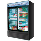 Turbo Air TGM-48RB Black 56 inch Two Sliding Glass Door Refrigerator - 48 Cu. Ft.